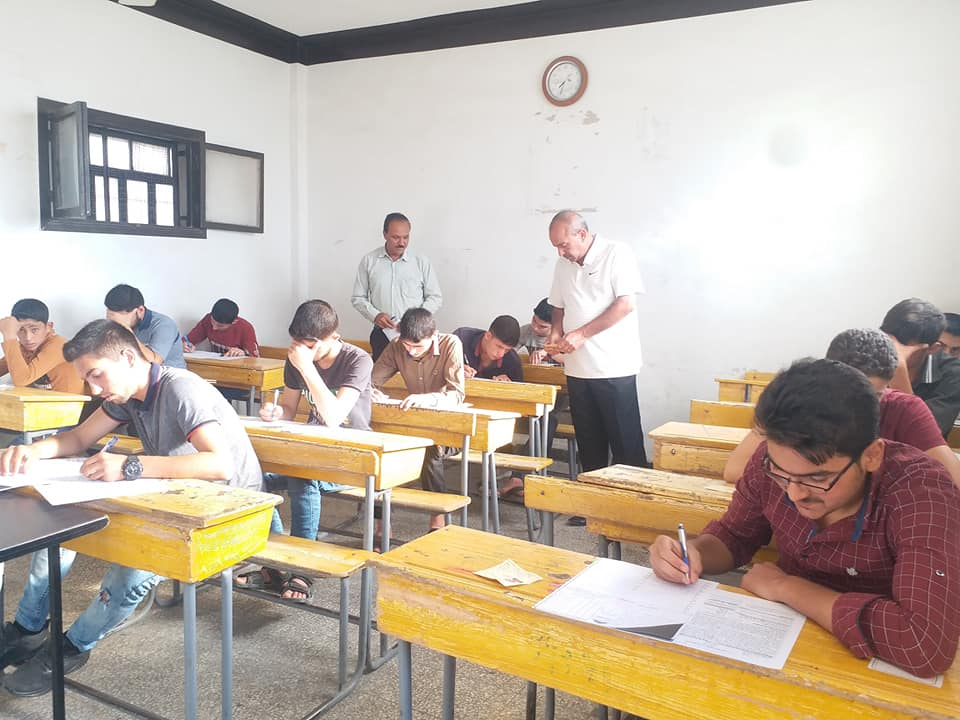 Students Continue to Sit High School & Elementary Education Exams in Liberated Areas